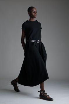 Vintage Y's Yohji Yamamoto Dress. Designer Clothing Dark Minimal Street Style Fashion