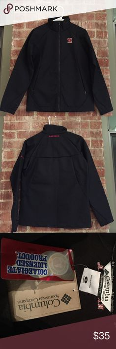 HARVARD performance soft shell jacket Columbia performance fleece soft shell, collegiate edition.  HARVARD emblem on front breast and back neck of jacket.  NWT. Columbia Jackets & Coats