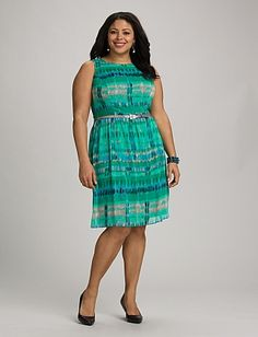 Plus Size Abstract Belted Dress | Dressbarn, LOVE THIS!
