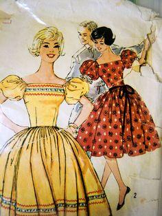 1960s Simplicity Western Dance Dress Pattern. $10.00, via Etsy.