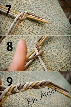 Images in Irina's post Straw Weaving, Paper Weaving, Weaving Art, Basket Weaving, Flax Weaving, Newspaper Basket, Newspaper Crafts, Hawaiian Crafts, Willow Weaving