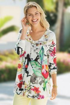 Fiore Floral Top from Soft Surroundings