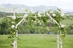 Wedding Archway covered with flowers