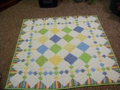 Sweet baby quilt - can easily be enlarged by making the squares bigger