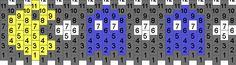 Pacman cuff pattern