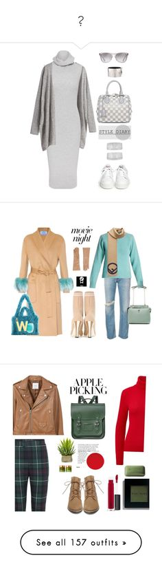 """""""♕"""" by lndsyklmod ❤ liked on Polyvore featuring Whistles, Ash, Oliver Peoples, John Lewis, Louis Vuitton, CÉLINE, sweaterdresses, Prada, R13 and Barneys New York"""
