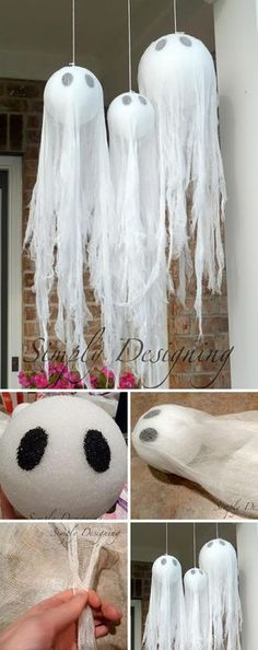 Give your home sweet home a decidedly devilish air with these easy diy halloween decorations from countryliving com. Best 50 diy halloween decorations that will decorate your home for a spooktacular time. Check out 17 super cute halloween party food . Diy Halloween Party, Casa Halloween, Homemade Halloween Decorations, Halloween Tags, Spooky Decor, Holidays Halloween, Halloween Crafts, Christmas Decorations, Diy Party