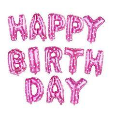 16 Inch Happy Birthday Balloons Party Decoration Letters Alphabet Aluminum Helium Balloon Foil