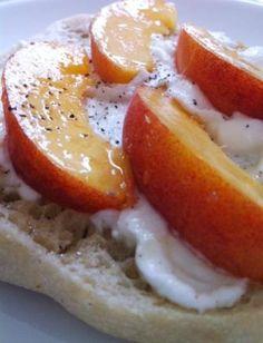 Peach Ricotta Toast