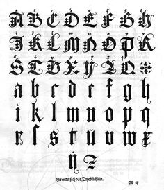 Blackletter Type / The typographer is chained more than any other artist by the... but does it float