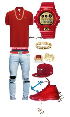 Happy Valentines by tikitress on Polyvore featuring Lacoste, Superdry, G-Shock, Fendi, Yves Saint Laurent, New Era, Effy Jewelry, Rocawear, men's fashion and menswear