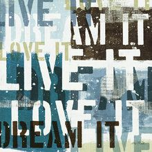 Canvasschilderij - Live the Dream