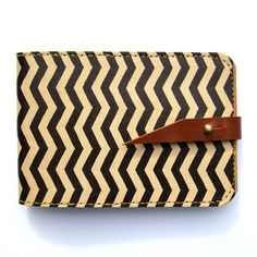 For when I get business cards!!!  Leather card case/ Oyster card holder - Zig Zag - Chevron design. $39.00, via Etsy.