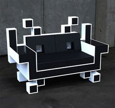 Do you have space for the coolest couch ever? The Space Invaders Couch was designed by Igor Chak. He says: The Space Invaders Couch is basically a s