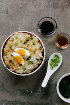 How To Make Congee Rice Porridge | Kitchn Rice Porridge, Porridge Recipes, Soup Recipes, Rice Recipes, Crockpot Recipes, Healthy Foods To Eat, Healthy Recipes, Easy Recipes, Asian Food Recipes