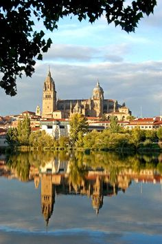 "spaintravelplaces: "" Spain - cathedrals over Tormes river, Salamanca. Facts about Spain: Area: sq km. The major part of the Iberian peninsula and Balearic Islands in the Mediterranean. Places Around The World, The Places Youll Go, Places To See, Around The Worlds, Madrid, Voyage Europe, Belle Villa, Balearic Islands, Spain And Portugal"