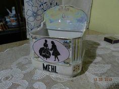 Krásná stará hezky zdobená kořenka Mehl Rokoko Snow Globes, Canning, Decor, Decoration, Decorating, Home Canning, Conservation, Deco
