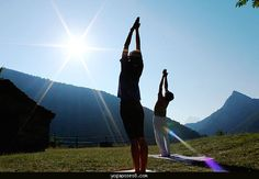 cool Yoga with nature