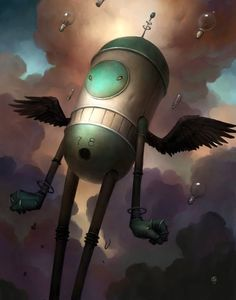"""Made by: Brian Despain , """"Love the colors in the clouds"""" - (Lightbulbs in the sky)"""