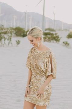 Sparkling Magic: Bold Sequin Dress for Your Beach Wedding - Beach Wedding Tips