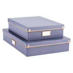 Grey Frisco Office Storage Boxes | The Container Store