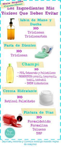 toxicos en productos de belleza que se deben evitar