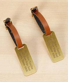 Look at this Engraved Personalized Luggage Tag - Set of Two on #zulily today!