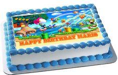Super Mario Luigi 1 Edible Birthday Cake Topper