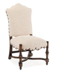 John Richard 44.5X24X28 French Linen Dining Side Chair AMF-1066V18-FRLN-AS