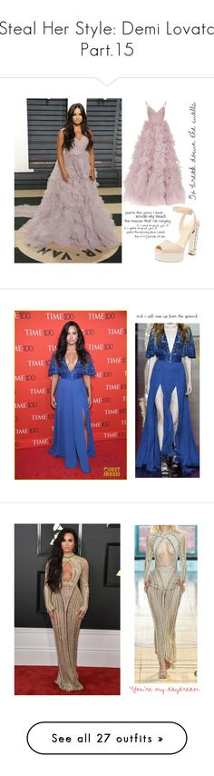"""Steal Her Style: Demi Lovato Part.15"" by ericapereiradia ❤ liked on Polyvore featuring Monique Lhuillier, Camp, Julien Macdonald, Derek Rose, The Row, Harris Wharf London, Boohoo, Ray-Ban, Tome and Barneys New York"