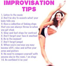 Improvisation tips! Improv is not a strength for me