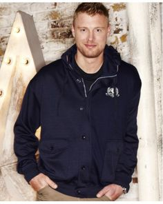 """Flintoff by JacamoFull Zip Hoodie - £35 Designed by Andrew """"Freddie"""" Flintoff exclusively for Jacamo. Shop now >> http://www.jacamo.co.uk/shop/product/details/show.action?pdLpUid=RZ343&pdBoUid=5137"""