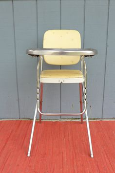 Atomic Vinyl High Chair Childs Seat with by ZeeJunkHunter on Etsy