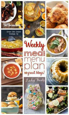 Weekly Meal Plan Week 29 (Dinners, Dishes, and Desserts) Easy Weekly Meals, Easy Meals, Weekly Menu, Dinner Menu, Dinner Sides, Dinner Themes, Dinner Recipes, Breakfast Slider, Easy Meal Plans