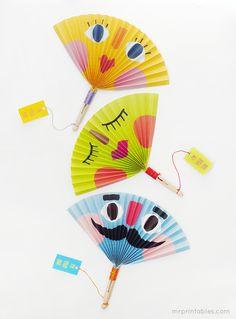 Summer Crafts for Kids | Making Paper Fans
