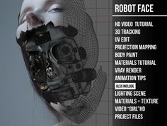 projection tracking robot face cinema 4d tutorial « Cinema 4D Tutorials