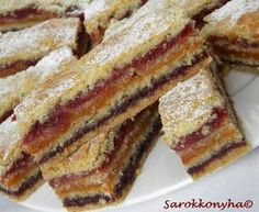 Delicious homemade dessert with jam-very unusual and quick to prepare. I suggest you bake cakes with Romanian Desserts, Romanian Food, Homemade Desserts, Dessert Recipes, Yummy Treats, Sweet Treats, Prune, Something Sweet, No Bake Cake