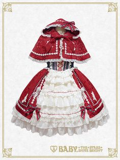Fairyland Red Riding Hood JSK and Cape Set by Baby, the Stars Shine Bright