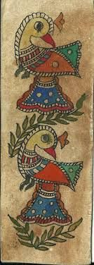 How to Talk to Madhubani Artists at The Craft Fairs Indian Artwork, Indian Folk Art, Fabric Painting, Painting Prints, Painting Art, Hand Painted Fabric, Madhubani Art, Chicken Art, Madhubani Painting