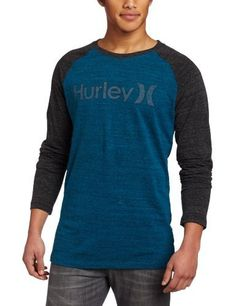 Hurley Men's One and Only Premium Raglan Long Sleeve from Hurley