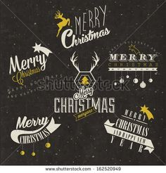 Christmas decoration collection for postcards and other Christmas design.