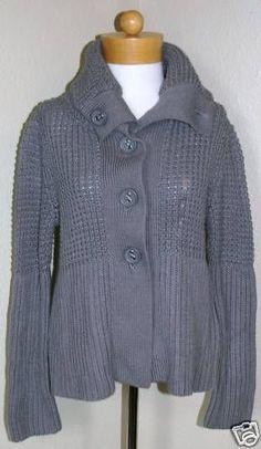 Liz Claiborne W's Sweater Jacket Gray Sz S $89-NWT #LizClaiborne #Cardigan