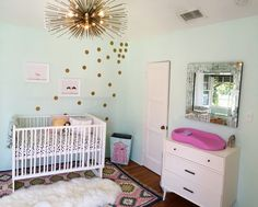 Gold Dot Wall Decals - fun and funky touch to this whimsical nursery! #nursery #nurserydecor #walldecal