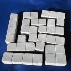 Concrete Tetris Blocks 6x6 blocks / Puzzle by Concreative on Etsy