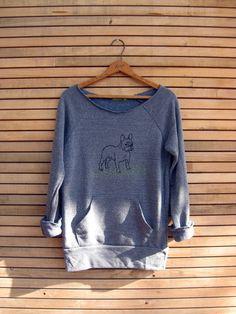 pant...pant...pant...LETS PLAY French Bulldog Sweatshirt, Dog Sweater, Frenchie Clothing, S,M,L,XL