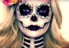 AMOR Y SENSUALIDAD: maquillaje de Catrina paso a paso (disfraz)