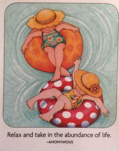 Relax And Take In-Handmade Fridge Magnet-Mary Engelbreit Artwork