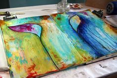Journal pages from Donna Downey - I just love her work and all of her tutorials.