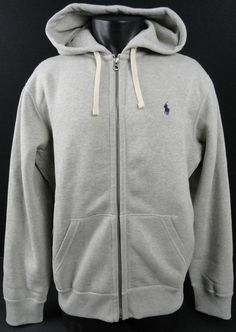 Ralph Lauren Menswear - Ralph Lauren Full Zip Hoodie Grey