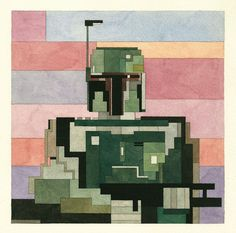 The Amazing Pixelated Watercolour Paintings of Adam Lister | Yatzer